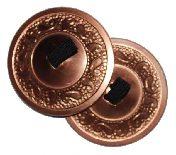 copper antique zills