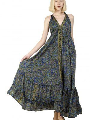 291012 - halter v neck dresses