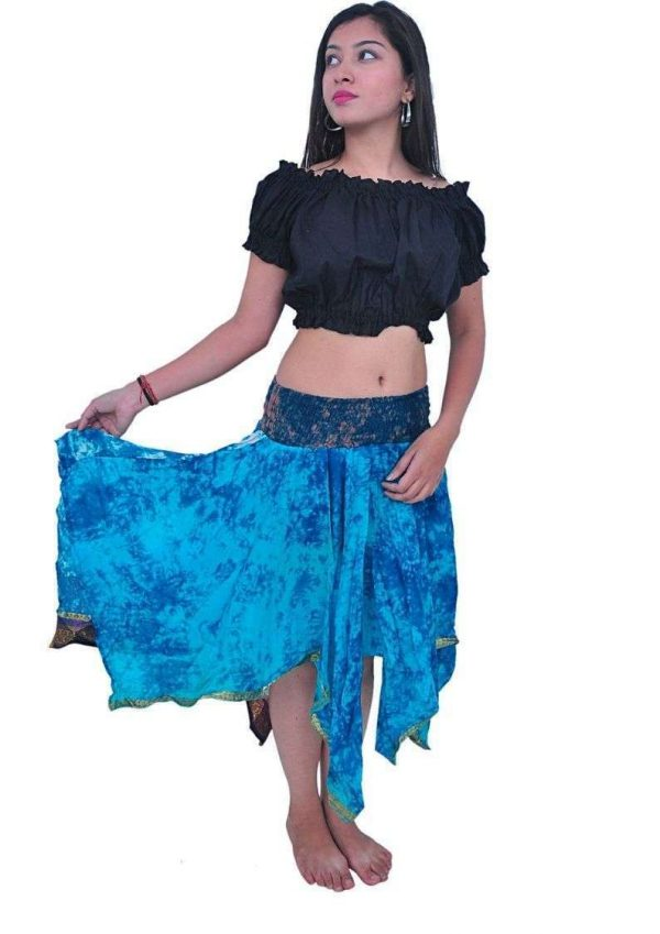 Pack of Diamond Cut style Silk Skirts, Assorted
