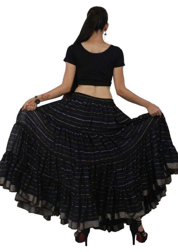 Jaipur Rajasthan ATS 25 Yard Gypsy Tribal Lurex Skirt