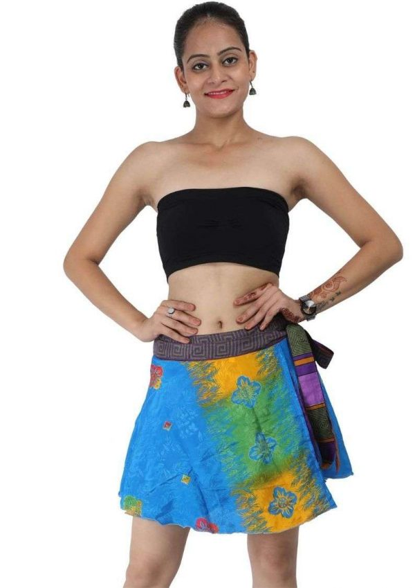 """Pack of Magic wrap skirt mini 16"""" ethically made"""