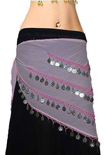Pack of 12 Wevez Silver Coin Affordable Belly Dance Costumes Hip Scarfs