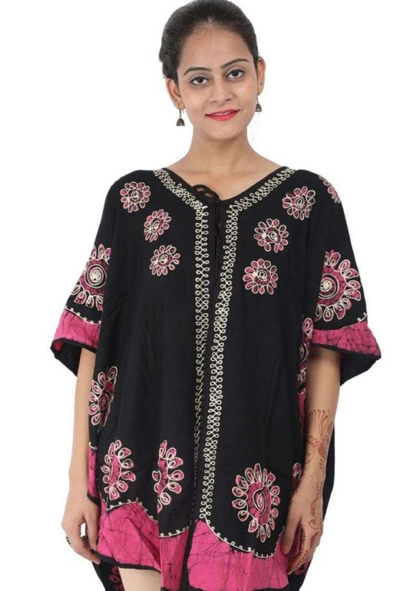 Rayon Cover Up Front Open Ponchos/Coverups XL Size