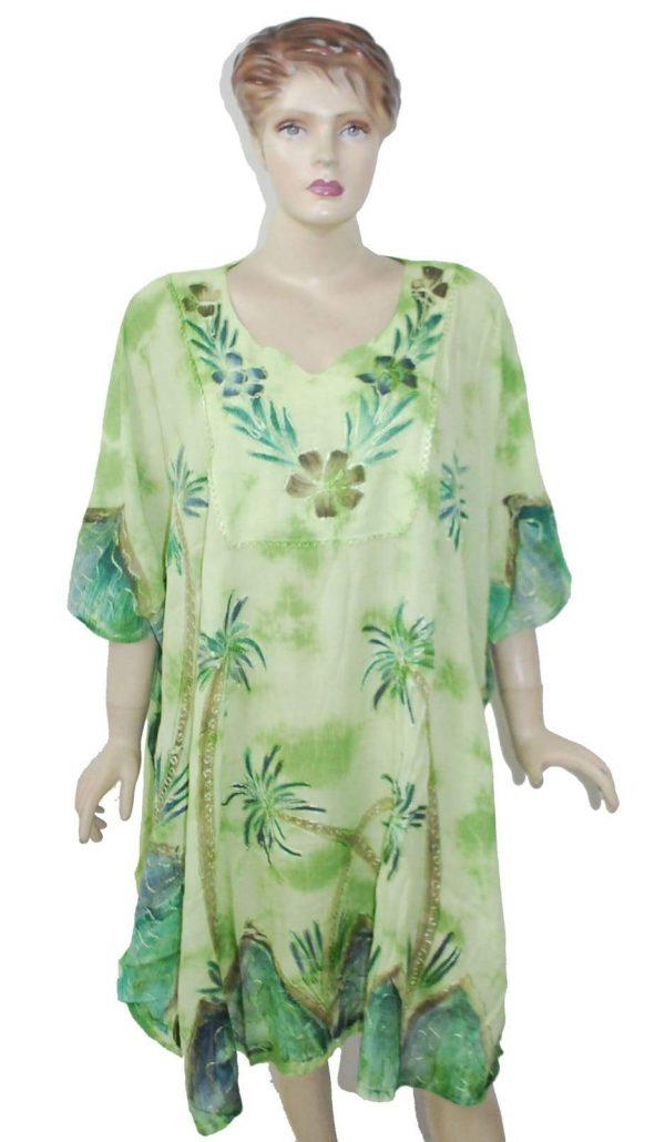 Roxy Floral Windy Fly Away Women Beach Kaftan / Ponchos Pack