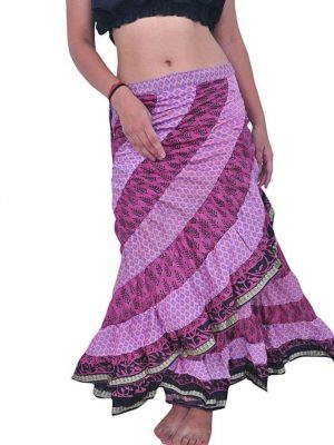 Pack of Sari Tribal Wrap Skirt