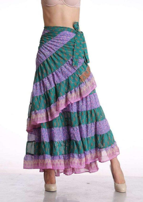Pack of Sari Tribal Wrap Skirt