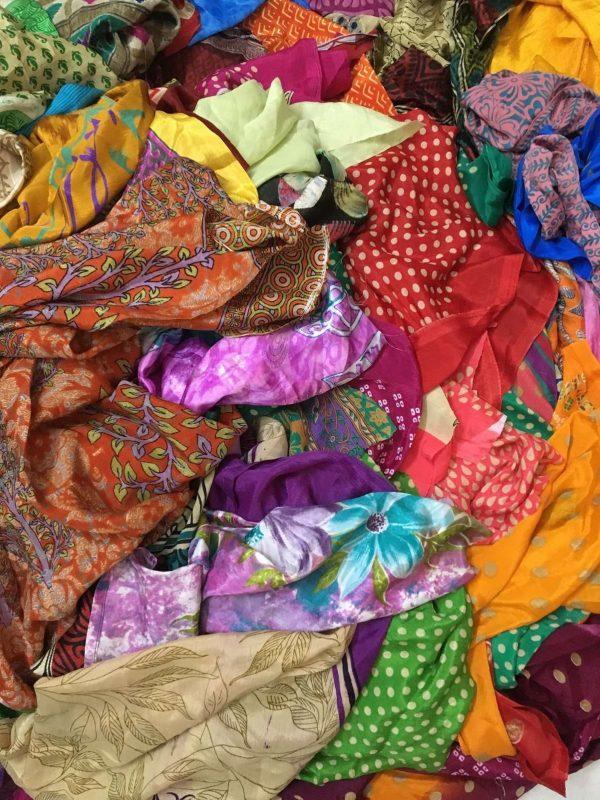 Sari Textile Artwork Projects Scrap Fabric