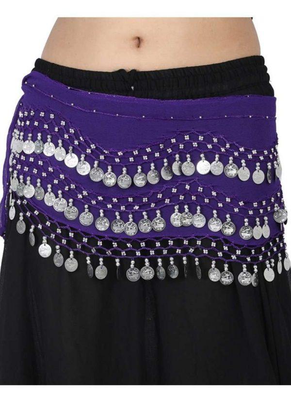 Wevez 12 pcs Egyptian Belly dance Hip scarfs