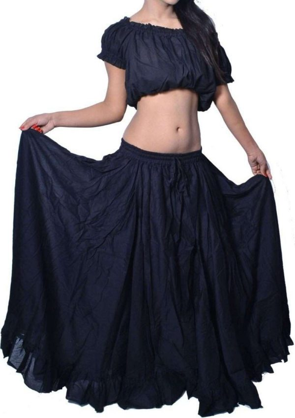 Wevez 16 yards Tribal Inspired Gypsy Flare Skirt