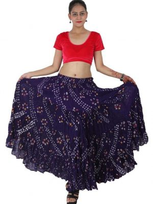 Wevez ATS 25 Yard Tribal Belly Dance Polka Dot Jaipur Skirt