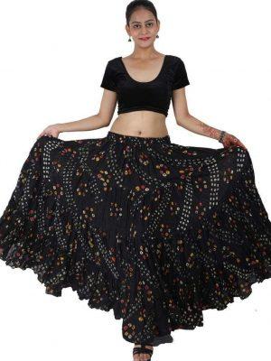 Wevez ATS 25 Yard Tribal Belly Dance Polka Dot Jaipur Skirt