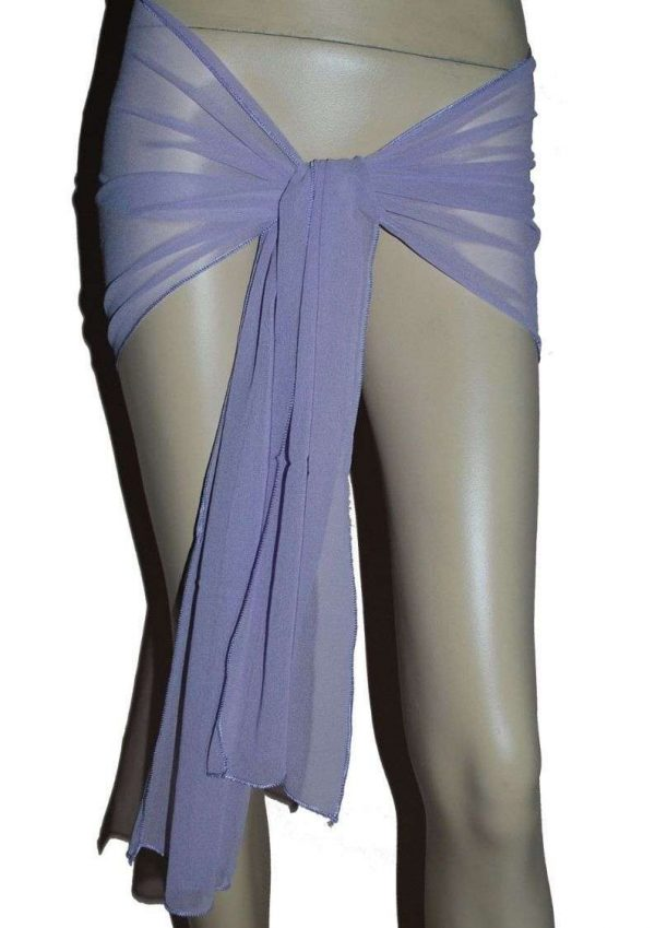 Wevez Belly Egyptian Dance Simple Hip Scarf Chiffon Belt / Scarf-pack of 10