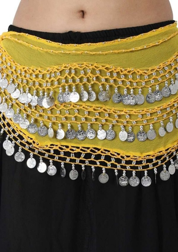 Wevez Chiffon Hip Scarf for Belly Dancing-12 pcss