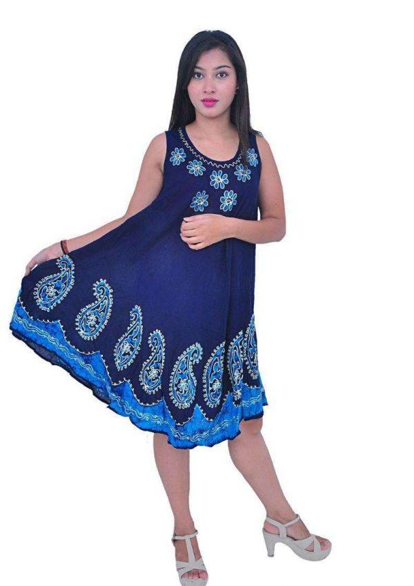 Wevez pack of 3 pcs Woman Sleeveless Sleep Dress Night Dress