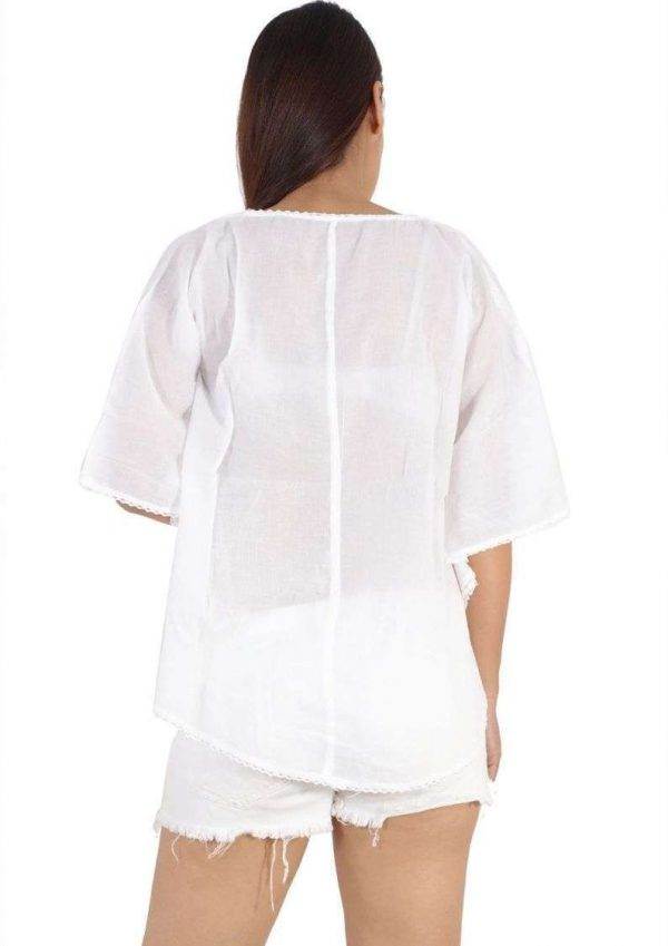 Wevez Pack of 3 White Long Sleeve Unique Slim Fit Tops