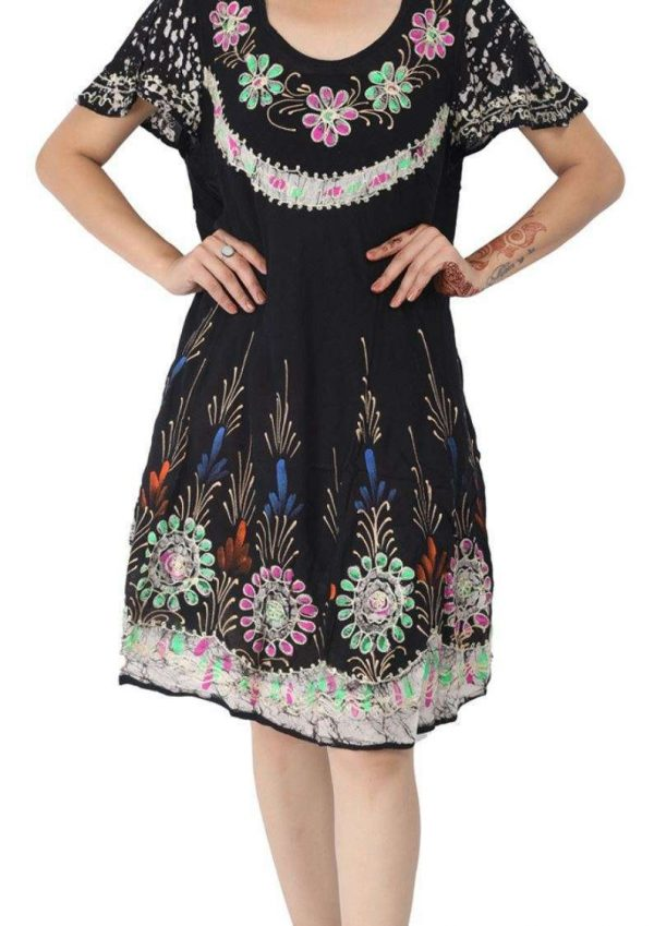 Wevez pack of Batik Embroidered Sundresses For Women