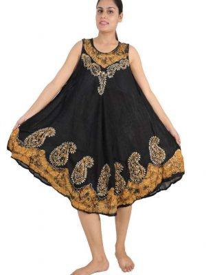 Wevez pack of Everyday Casual Batik Tank Caftan Dress