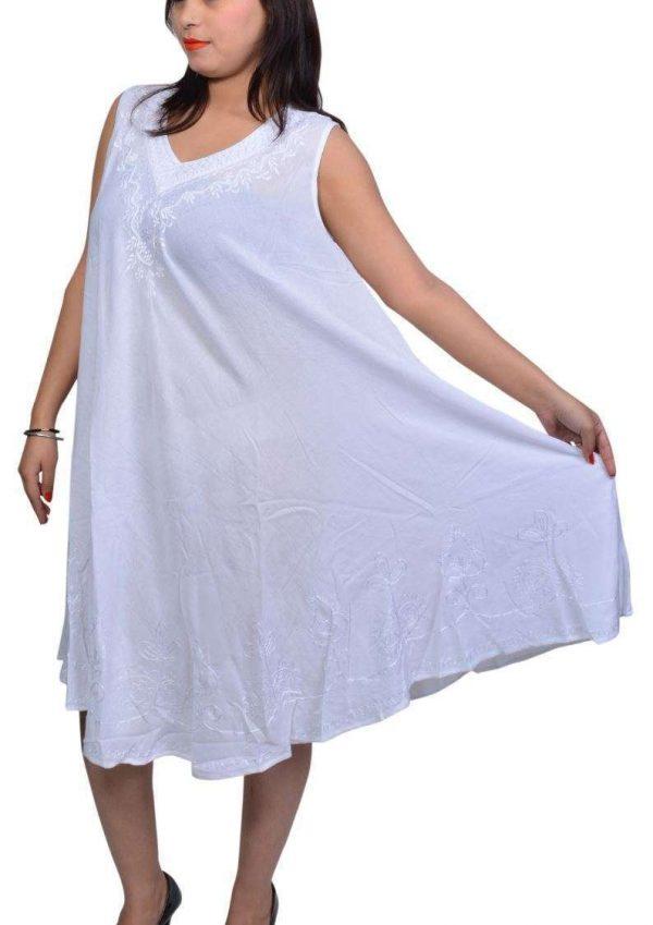 Wevez Pack of Plain Simple Sleeveless Summer Dresses