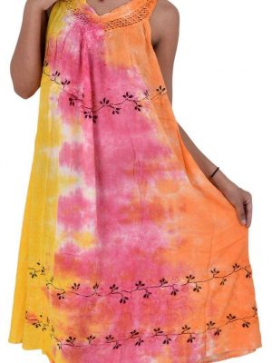 Wevez Pack of Tie Dye Summer Maxi Dresses