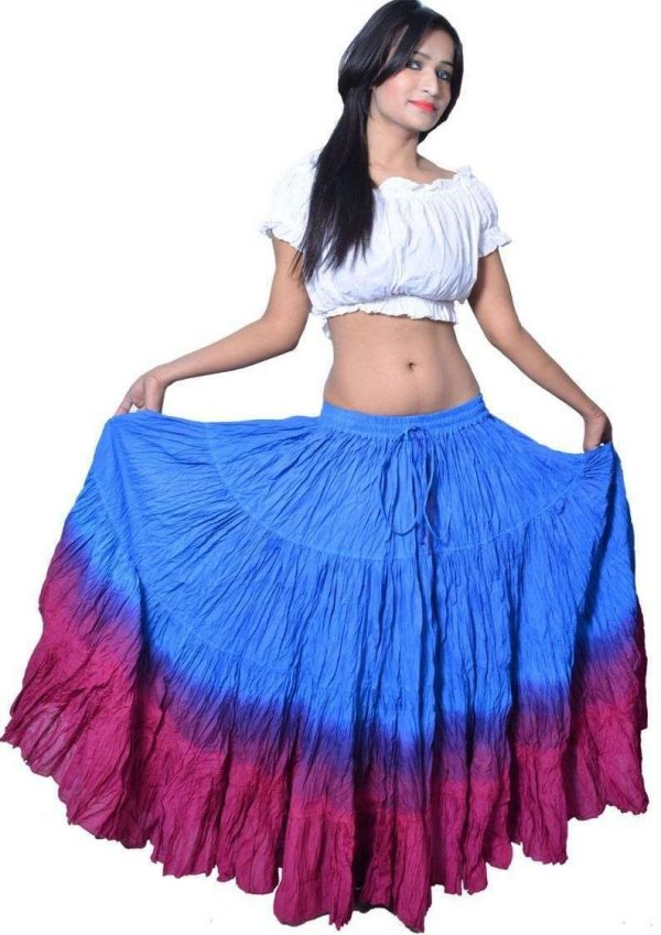 Wevez Plus Size 40 Inches Long Tribal Fusion 25 Yard Skirt