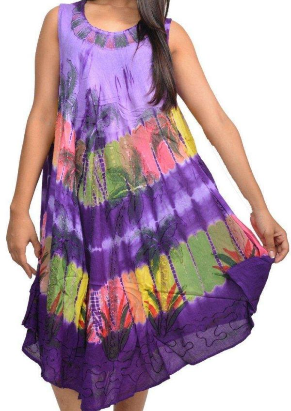 Wevez Rayon Ladies Dress Without Sleeves Pack
