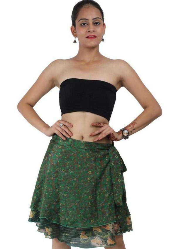 Pack of Short Size Two Layer Reversible Wrap Around Art Skirts