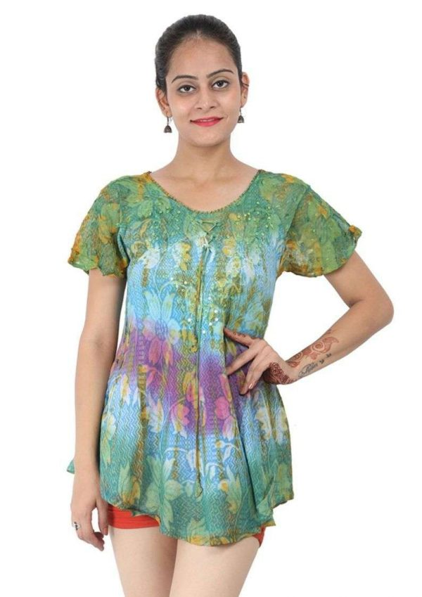 Wevez Short Sleeve Cute Tunic Tops for Women - Pack of 3