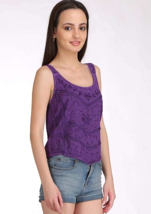 Wevez Stretchy Casual Embroidery Crop Tops Pack