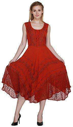 Wevez Summer Casual Sun Dress for Women & Girls