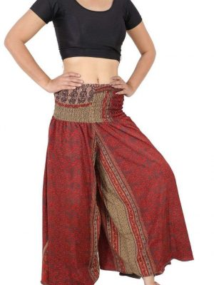 Wevez Traditional Art Sari Palazzo Pants