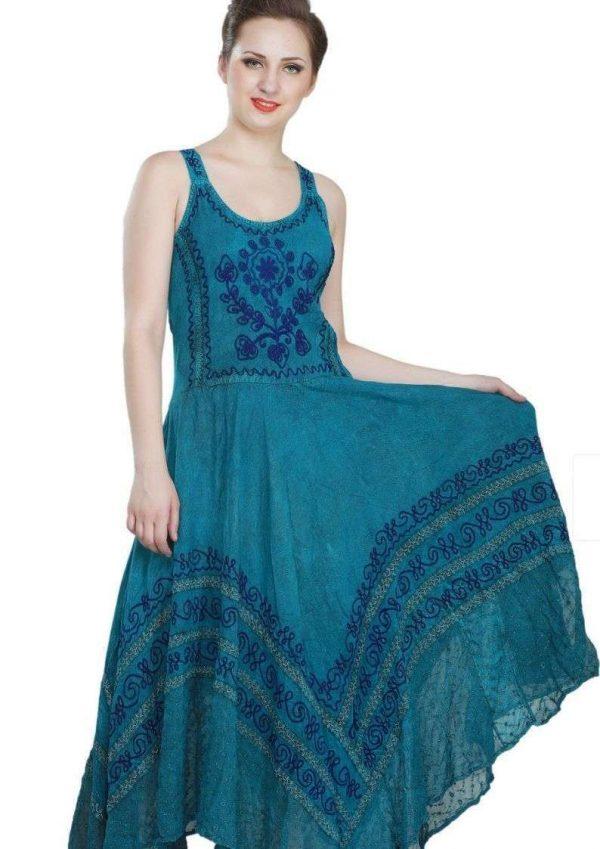 Wevez Trendy Cool Flower Embroidery Women Dress