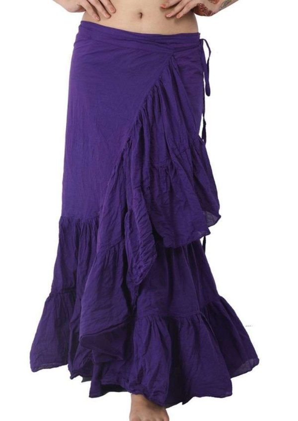 Pack of Wevez Tribal Cotton Wrap Frill Skirts