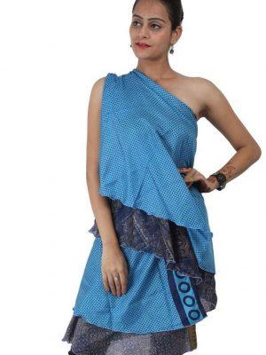 Pack of Two Layer Magic Silk Wrap Around Skirt / Dress