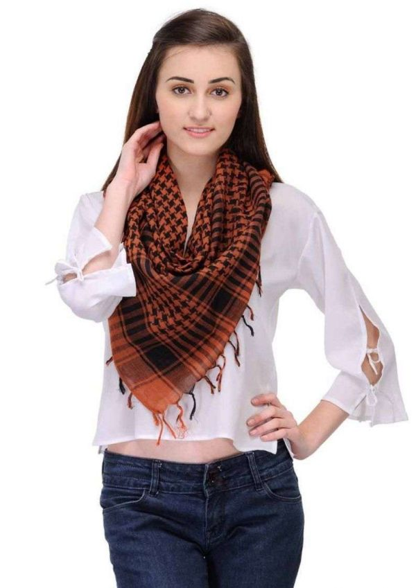 Wevez Unisex Shemagh Arafat Head Neck Checkered Style Spanish scarf-pack of 10
