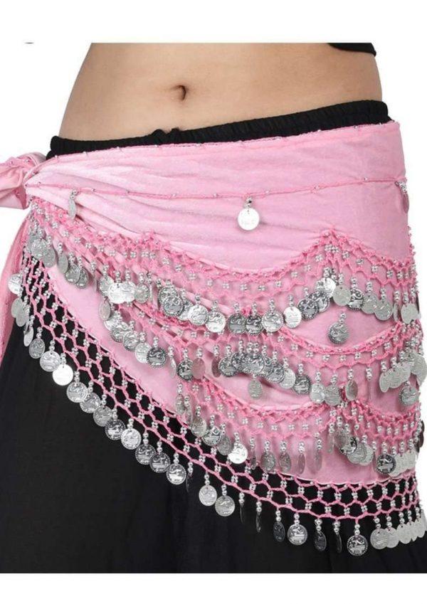 Wevez Velvet Belly Dancer Costumes Hip Scarves-12 pcs