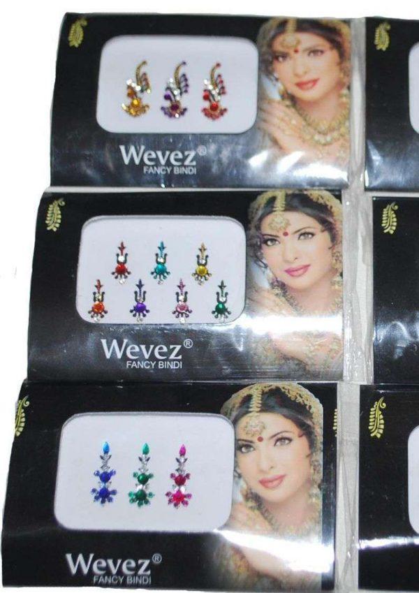 Wevez Women Bindi jewelry Dots, Mix Bindi Design