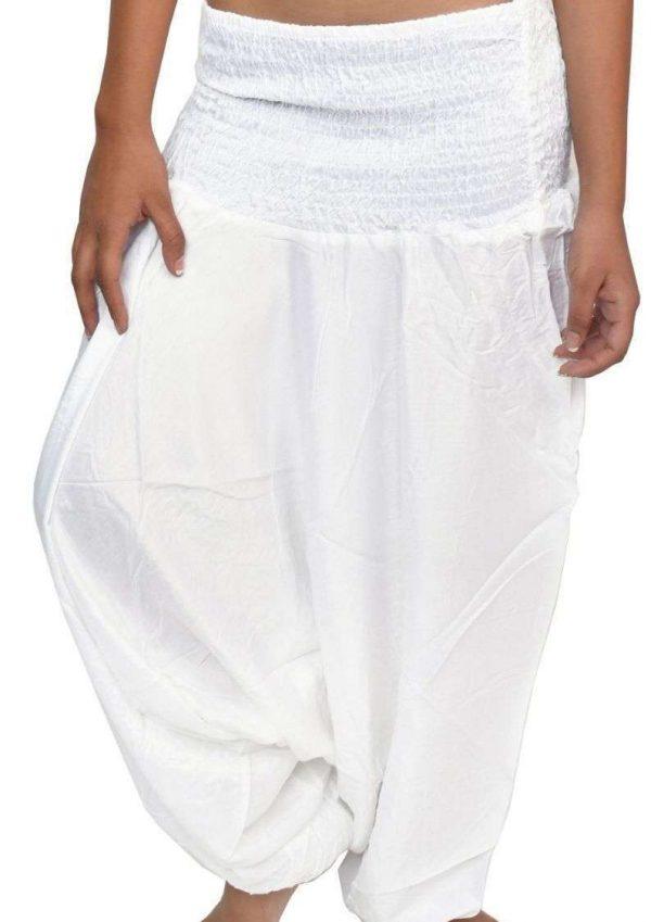 Wevez Women Summer Plain Harem Pants