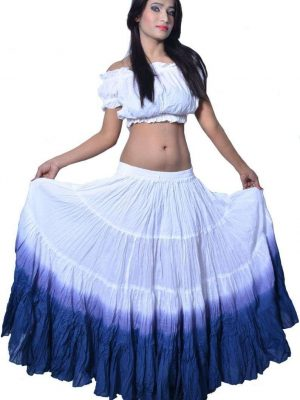 Wevez Women's ATS Tribal Dip Dye 25 Yard Skirt