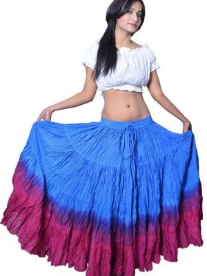 Wevez Women's ATS Tribal Dip Dye 25 Yard Skirt