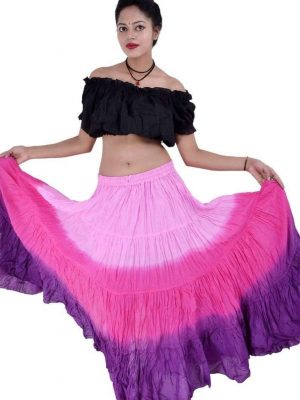 Wevez Women's Belly Dance Cotton 12 Yard Skirt