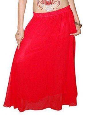 Wevez Women's Chiffon/Georgette Egyptian Belly Dance Skirt