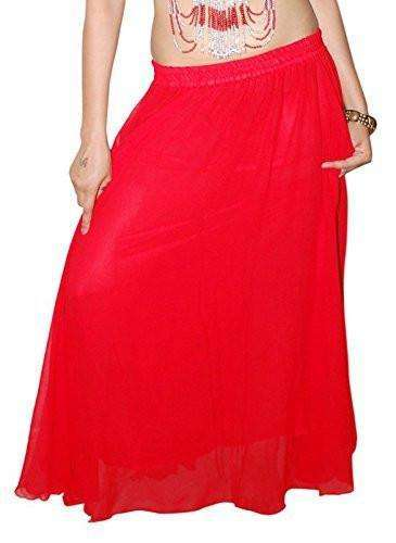 Wevez Women's Chiffon/Georgette Egyptian Belly Dance Skirt