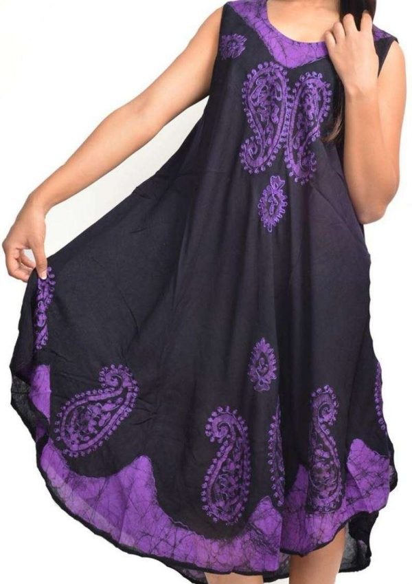 Wevez Women's Lot of Knee Length Embroidery Dresses, One Size, Assorted