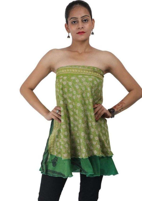 Wevez Women's Lot of Silk Sari Skirts, Medium, Assorted