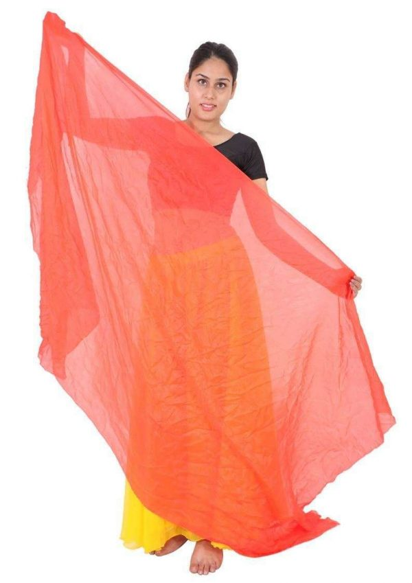 Wevez Women's Mix Color Belly Dance Chiffon Veils, One Size, Assorted