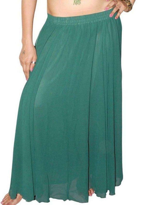 Wevez Women's of Belly Dance Chiffon/Georgette Skirts, One Size