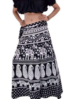 Wevez® Pack of 3 Pcs Cotton Long Wrap Around Skirts