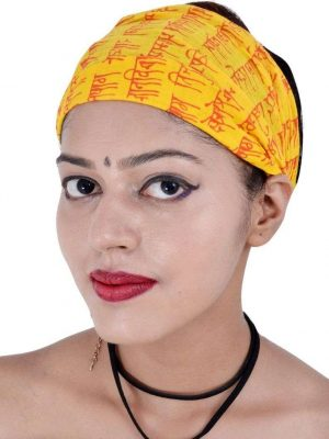 Wevez® Women 05 Printed Stretchable Yoga Cotton Head Bands