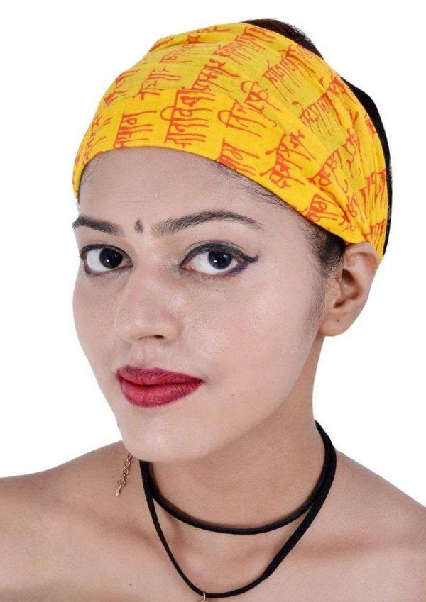 Wevez® Women 05 Printed Stretchable Yoga Cotton Head Bands