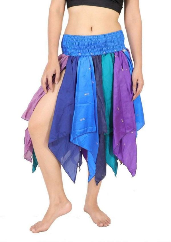 Pack of Women's Tribal Leaves Style Skirt, One Size, Assorted